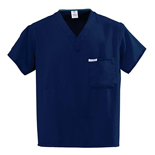 Medline PerforMAX Unisex Reversible Scrub Top, MDL-CC, X-Small, Navy