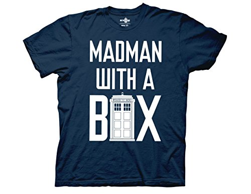 Box Ripple (Ripple Junction Doctor Who Madman With A Box Adult T-Shirt Large Blue)
