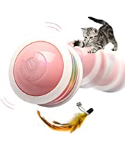 Interactive Cat Toy Ball, Yuede USB Rechargeable Cat Toys for Indoor Cats with Colorful Led Light & Multiple Playing Methods for Kitten & Dog Exercise