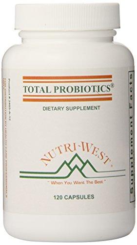 nutri-west Total Probiotics 120 Capsules, 2.4 Ounce (Probiotics 120 Capsules)
