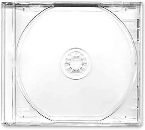 Four Square Media. Caja CD o DVD 10,4 mm, 25 unidades, con bandeja transparente pack de 25: Amazon.es: Informática