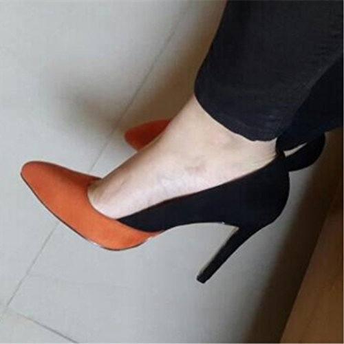 Cm Black VIVIOO Sandals 45 Shoes Elegant Size Leather Orange Beautiful 11 And Multi Shoes Heel 34 10 Prom High 0q0Srwgv