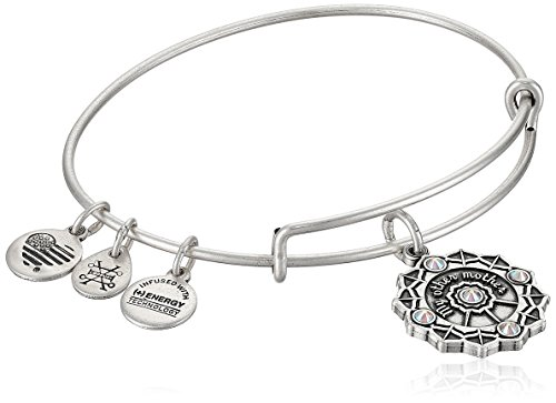 Price comparison product image Alex and Ani Womens Mother of the Groom EWB Bangle Bracelet,  Rafaelian Silver,  Expandable