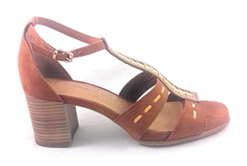 Marco Tozzi - Sandalias de vestir para mujer marrón canela canela