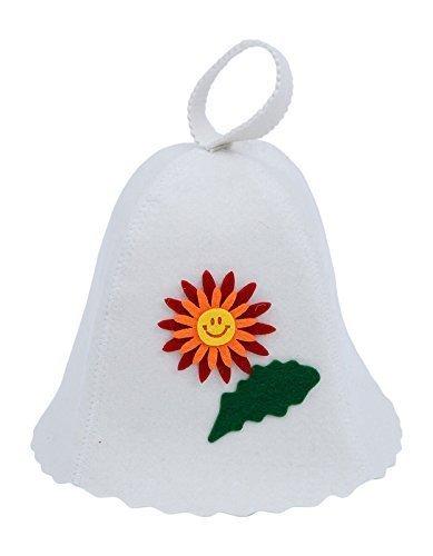 GMMH Sauna Hat, Orange Flowers Motif 1122
