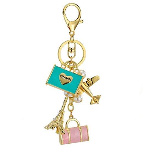 Handbag Charm Key - Lady Gift Rhinestone Travel Crystal Keychain Car Key Chain Purse Pendant Handbag Charm Sweater Chain