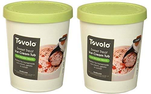 Tovolo Sweet Treats 1 Quart Pistachio Tub, Set of 2