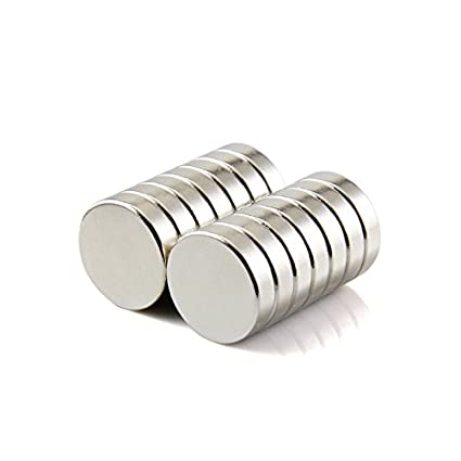 Sunkee 5pcs Pequeño y redondo imanes de disco de diámetro 20 mm x 5mm N50 Súper