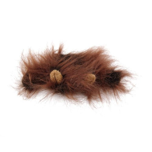 [Pet Costume Lion Mane Wig for Dog Cat Halloween Clothes Festival Dress up w/ Ear (light brown)] (Iron Man Cat Costume)