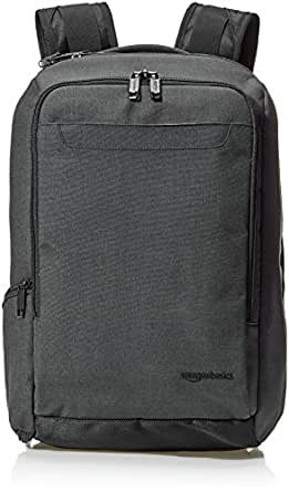 AmazonBasics Slim Carry On Travel Backpack, Black - Overnight