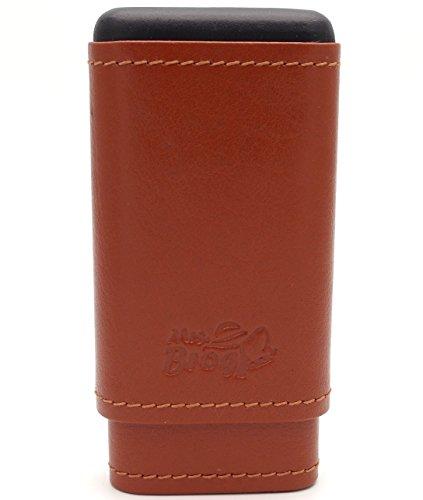 Spanish Leather Cedar Cigar Cases - Authentic Full Grade Buffalo Hide Leather - Tan