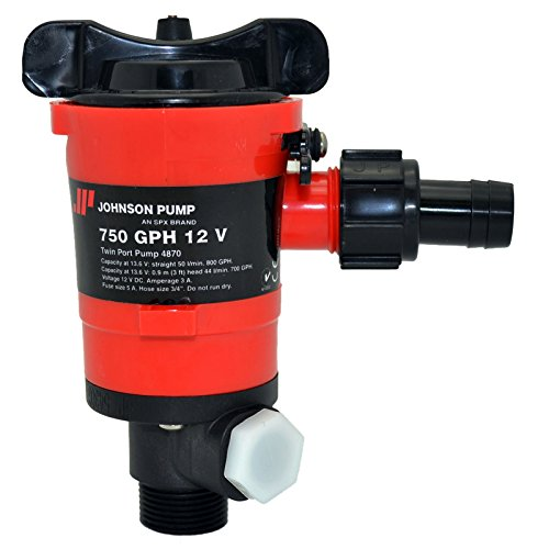 Johnson Pumps 48703 750 GPH Aerator/Livewell Pump