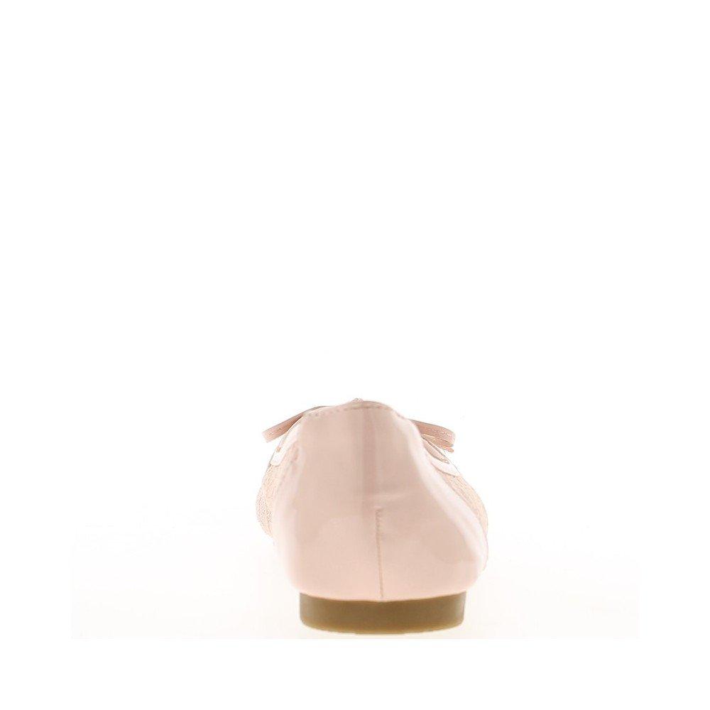 53f224ab210529 ChaussMoi Rosa Ballerinas mit Spitze und Bogen Gemalt - 41  Amazon.de   Schuhe   Handtaschen