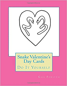 Snake Valentine's Day Cards: Do It Yourself