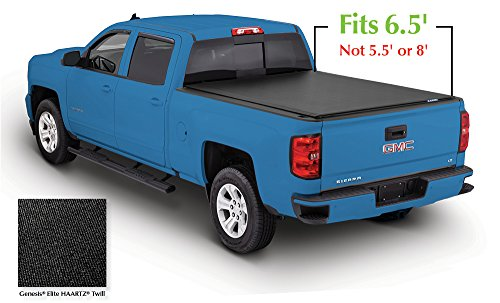 Lund 96893 Genesis Elite Roll Up Truck Bed Tonneau Cover for 2007-2018 Silverado & Sierra 1500, 2500 HD, 3500 HD | Fits 6.5' Bed