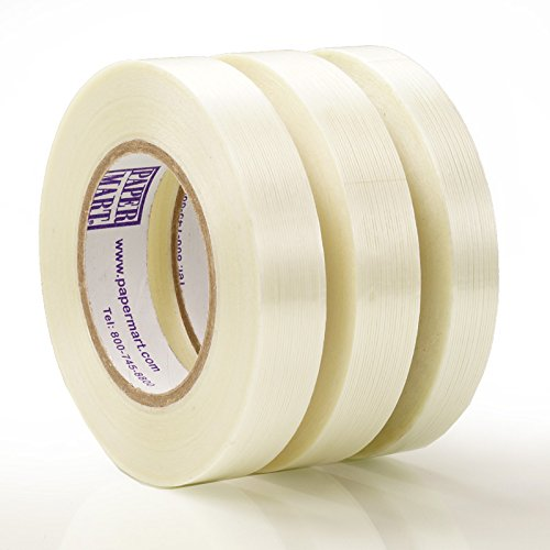 3/4'' X 60 Yards 48ea -Clear Pm Medium Duty Filament Tape - 5.5 mil thick by Paper Mart