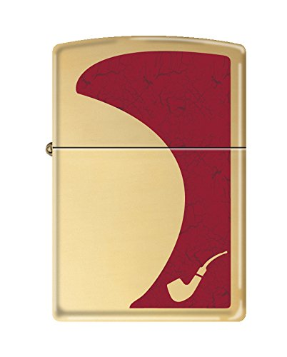 Zippo Red High Polish Brass Brass Pipe Lighter by Zippo (Image #1)