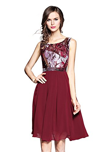 Chiffon Floral Prom Dress - 5