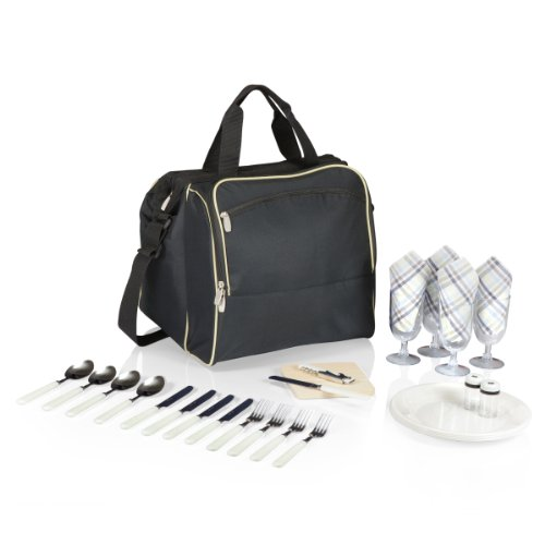 PICNIC TIME Verdugo Insulated Picnic Cooler with Deluxe Service for Four, - Bag Picnic Time Beach Deluxe