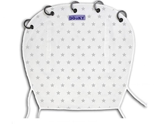 Dooky Design - Universal Fit For Carriers, Strollers, Pushchairs - Silver Stars 126607