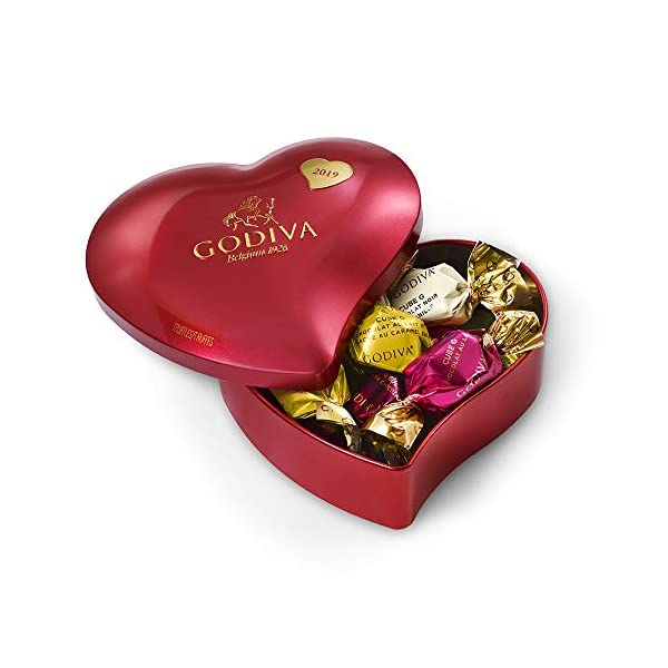 Godiva Chocolatier Godiva Chocolatier Valentines Day IWC Heart Tin, Valentine's Day Candy, Gifts for Her, 12pc, 3.4 Ounce