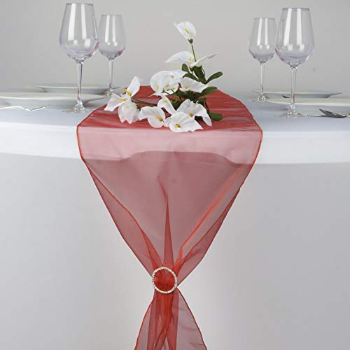 - Mikash 14 x 108 Organza Table Top Runners Wedding Party Dinner Reception Decorations | Model WDDNGDCRTN - 2179 | 20 pcs