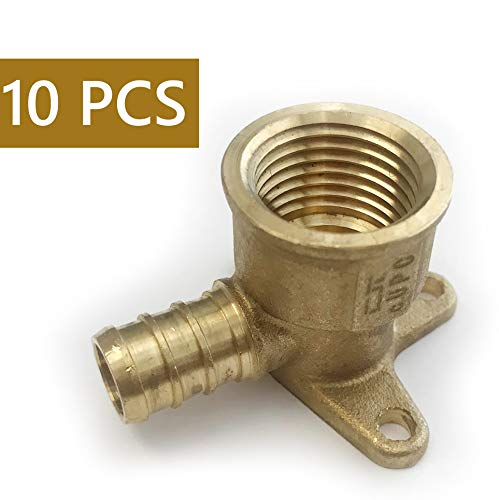 (Pack of 10) Pex Fitting 1/2 Inch x 1/2 Inch Female NPT Drop-Ear Elbow (10) by Efield
