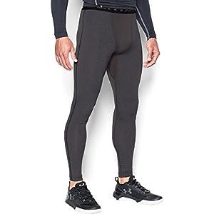 Under Armour Men's ColdGear Armour Compression Leggings, Carbon Heather/Black, XXX-Large