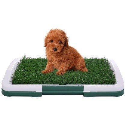 Pet Dog Toilet Urinary Trainer Grass Mat Potty Pad Indoor