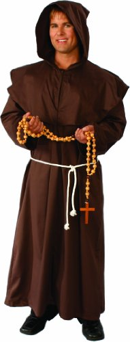 [Alexanders Costumes Monk Robe, Brown, One Size] (Brown Monk Robe Costume)