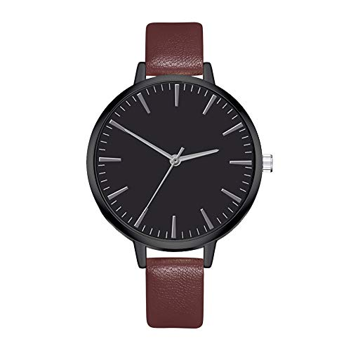 Fenleo New Women's Fashion Wrist Watches Leather Strap Quartz Watch