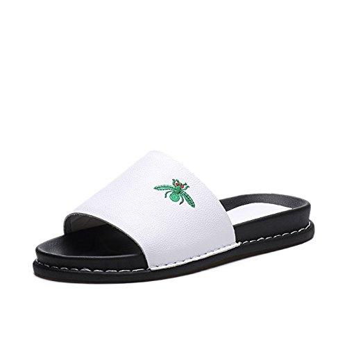 ZPPZZP Ms sandali estate piatta e un tessuto traspirante tempo libero bianco 37EU