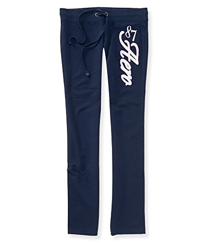 Aeropostale women skinny sweatpants (X-Large, Navy / Aero 87)