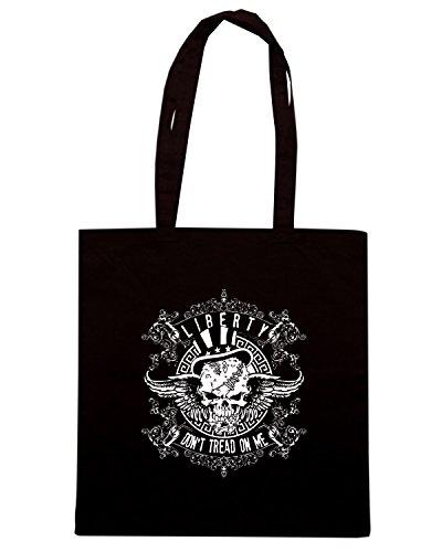 T-Shirtshock - Borsa Shopping TM0614 dont tread on me winged skull Nero