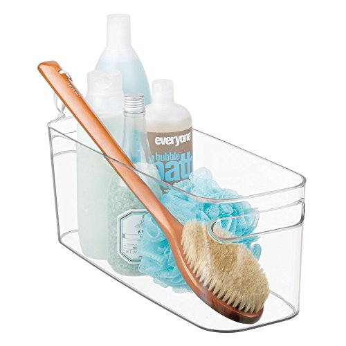 InterDesign Una Bathroom Vanity Organizer Bin for Health and Beauty Products/Supplies, Towels - 16 x 6 x 6, Clear
