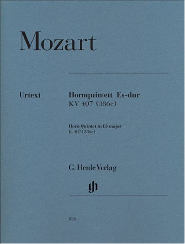 Horn Quintet Eb major K.407 - horn, violin, 2 violas and cello - (HN 826)