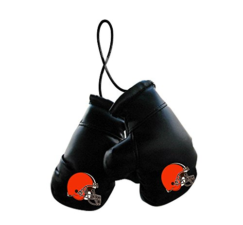 Fremont Die NFL Cleveland Browns Unisex NFL Mini Boxing Glovesnfl Mini Boxing Gloves, Team Logo/Colors, 4