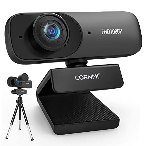 1080P Webcam with Microphone for Desktop FHD Streaming Computer Web Camera with Dual Mic Privacy cover