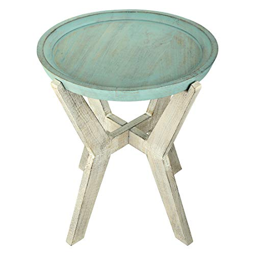 Aheli Wooden Decorative Coffee Side End Table Hand Carved Corner Table for Home Living Room