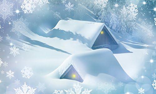 Inspired Walls Póster Gigante de Navidad con Polo Norte de Nieve ...