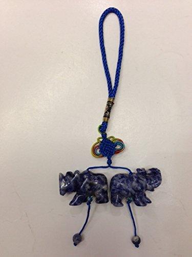 Amulet Elephant - Blue Sodalite Rhinoceros and Elephant Amulet