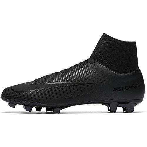 Nike Mercurial Victory VI DF FG, Scarpe da Calcio Uomo Nero (Black/Black 001)
