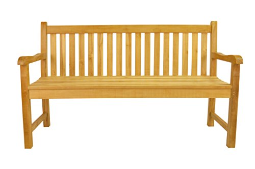 Seater Teak Garden - Anderson Teak No Cushion Classic 3-Seater Bench