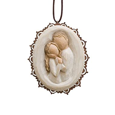 Willow Tree Embrace Metal Edged Ornament by Susan Lordi