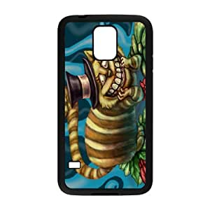 Samsung Galaxy S5 Cell Phone Case for Classic Theme lovely Cheshire Cat in Wonderland Cartoon pattern design GLYCCIW96477