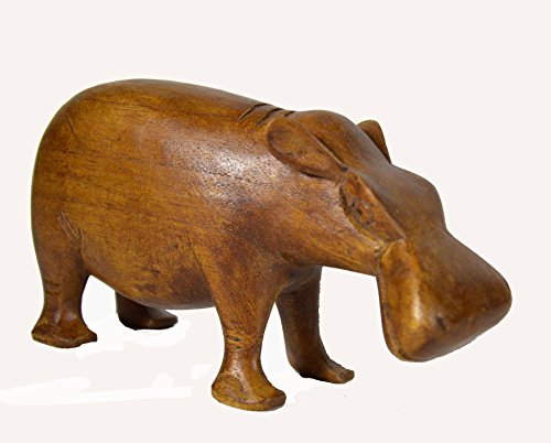 LG Hand Carved Mahogany Hippo Hippopotamus Table Top African Safari Carving Sculpture (Hand Carved Hippo)