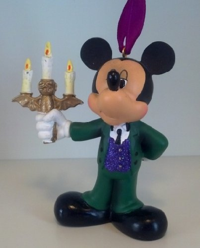 Mansion Mickey Mouse Host Guide with Candelabra Ornament (Mickey Haunted Mansion)