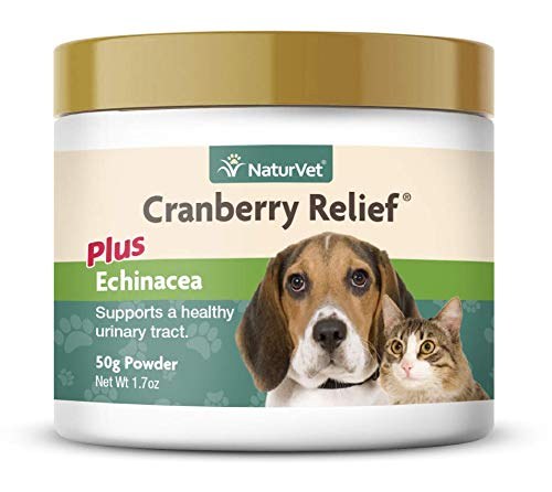 NaturVet - Cranberry Relief Plus Echinacea - Helps Support a Healthy Urinary Tract & Immune System - 50g Powder