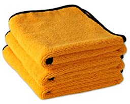 3 Pack Cobra Gold Plush XL Microfiber Towels, 25 x 36 inches