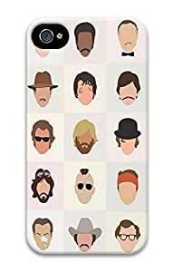 3D PC Back Case Cover for iPhone 4 Hard Shell Skin for iPhone 4 with Cute Head Portraits
